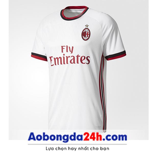 Áo câu lạc bộ Ac Milan 2017-2018 sân khách trắng | ÁO BÓNG ĐÁ 24H