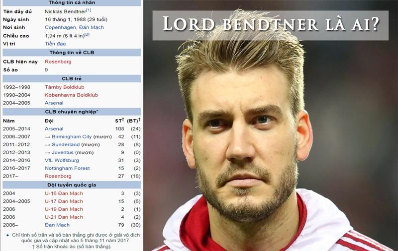 Lord Bendtnerlà ai? Tìm hiểu tiểu sử về huyền thoại Bendtner