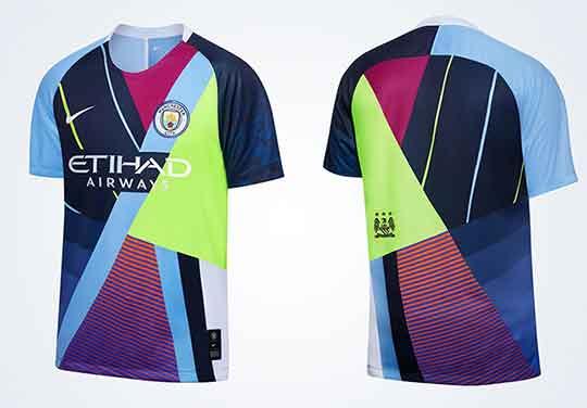Áo đấu Manchester City 2020 - Áo Man City đa sắc màu