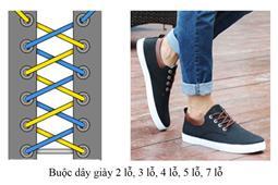 Hướng dẫn buộc dây giày 2 lỗ, 3 lỗ, 5 lỗ, 7 lỗ, ... đơn giản