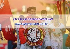 [TOP] Các câu lạc bộ bóng đá Việt Nam giàu thành tích nhất