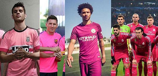 Tổng hợp các mẫu quần áo bóng đá màu hồng đẹp nhất