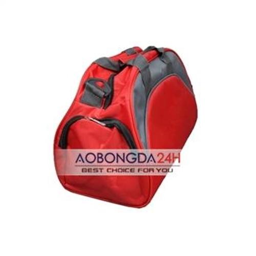 túi đựng đồ thể thao bóng đá màu đỏ pha xám
