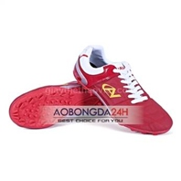 Giày bóng đá Coavu da màu đỏ đậm