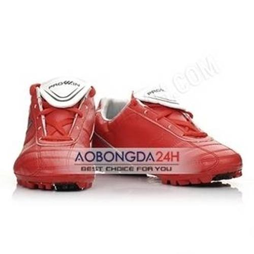 Giày bóng đá sân cỏ nhân tạo Prowin màu đỏ