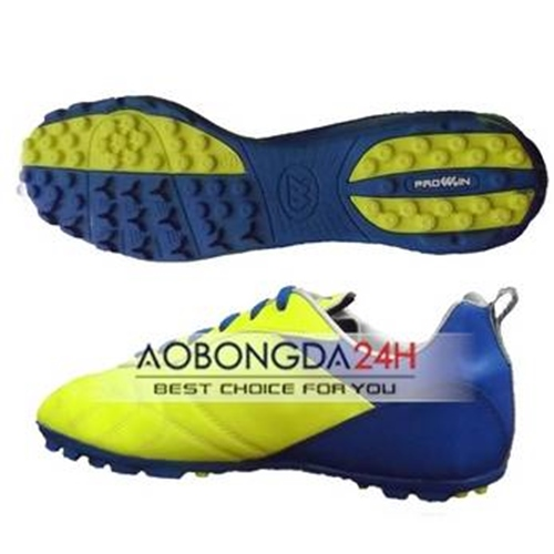 Giày bóng đá Prowin màu vàng xanh