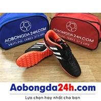 Giày đá bóng sân cỏ nhân tạo Prowin 3 sọc màu đen