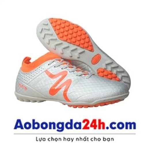 Giày bóng đá Mitre 160603 cổ cao, đinh TF màu bạc