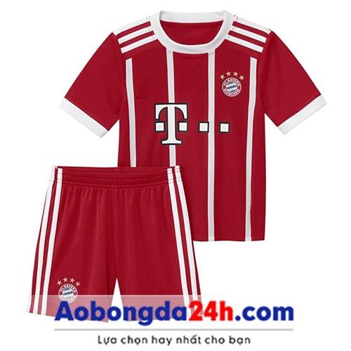 Quần áo bóng đá trẻ em Bayern 2018 sân nhà