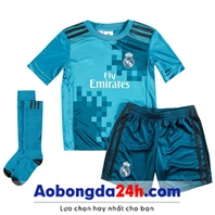 Quần áo bóng đá trẻ em Real Madrid 2018 Mẫu thứ 3