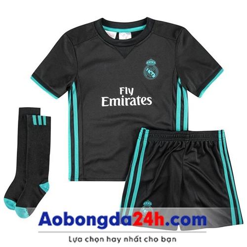 Quần áo bóng đá trẻ em Real Madrid  2018 sân khách