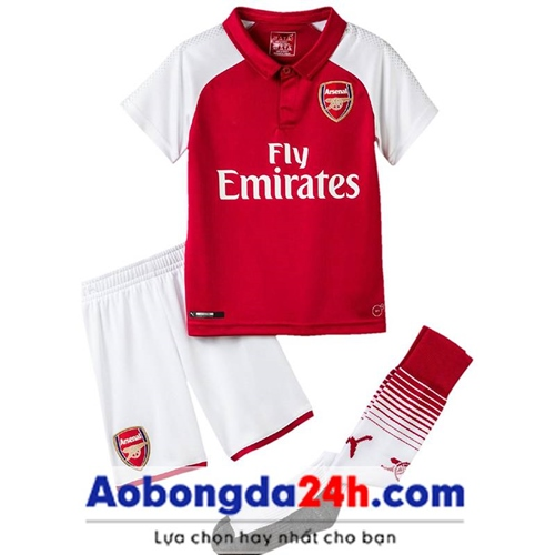 Quần áo bóng đá trẻ em Arsenal 2018 sân nhà