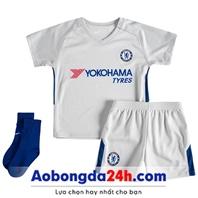 Quần áo thể thao Chelsea trẻ em 2018 sân khách