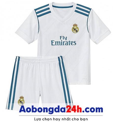 Áo bóng đá trẻ em Real Madrid 2018 sân nhà
