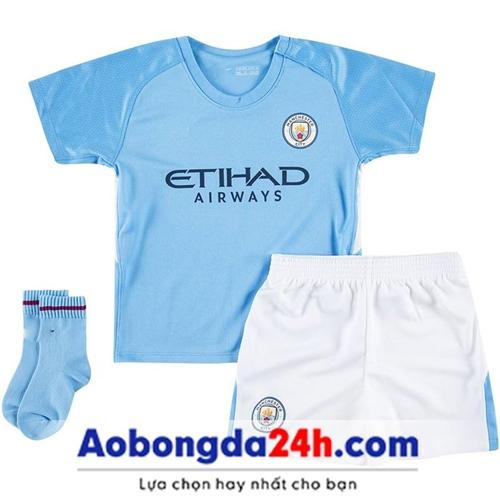 Quần áo thể thao trẻ em Manchester City 2018 sân nhà