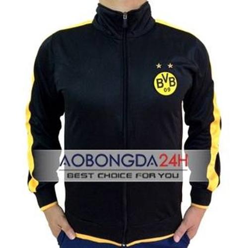 Áo Khoác thể thao Dortmund 2014 - 2015 đen (Mẫu 01)