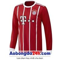 Áo dài tay Bayern Munich 2018 màu đỏ Sân nhà