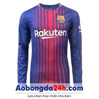 Áo bóng đá dài tay Barca 2018 Sân nhà