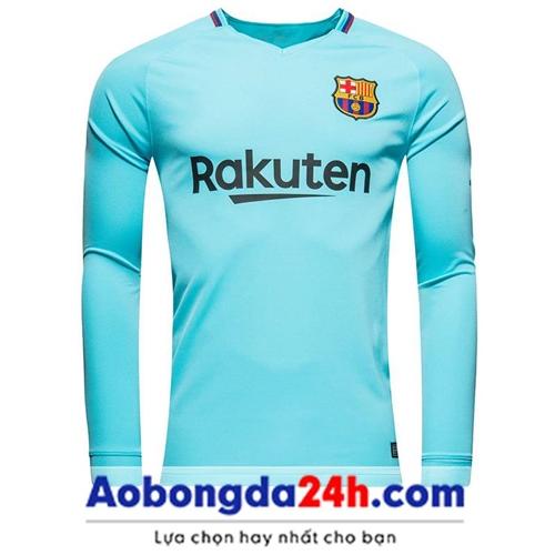 Áo bóng đá Barca dài tay 2018 Sân khách