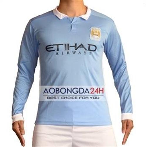 Áo dài tay Manchester City 2015-2016 Sân nhà
