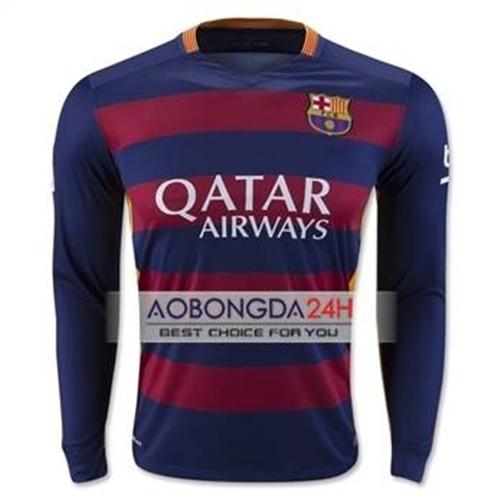 Áo bóng đá dài tay Barcelona 2015-2016 Sân nhà