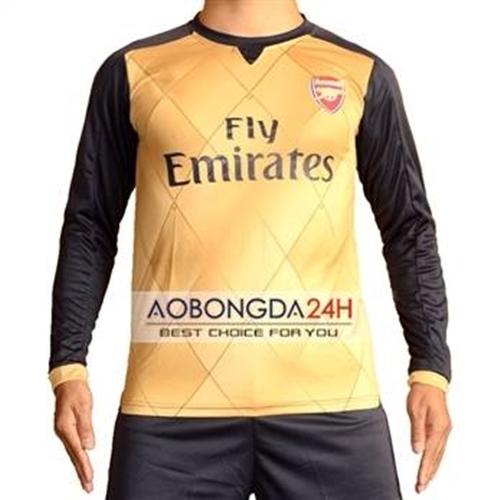 Áo đá bóng dài tay Arsenal 2015-2016 Sân khách