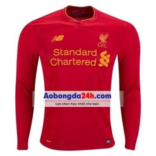 Áo bóng đá dài tay Liverpool 2017 màu đỏ sân nhà