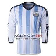 Áo dài tay đội tuyển Argentina 2014 - 2015 sân nhà