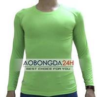 Áo lót dài tay bóng đá Body màu xanh lá