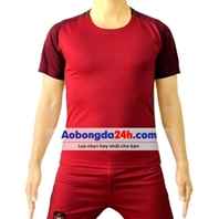 Áo bóng đá không Logo Anh sân khách màu đỏ