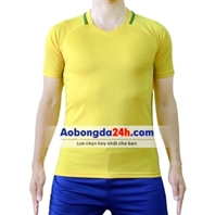 Áo thể thao không logo Brazil vàng sân nhà