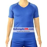 Áo đá banh không Logo Brazil xanh sân khách