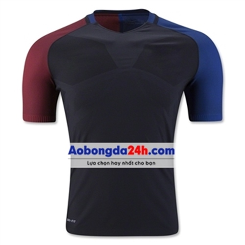Áo bóng đá không logo Mỹ xanh đen sân khách