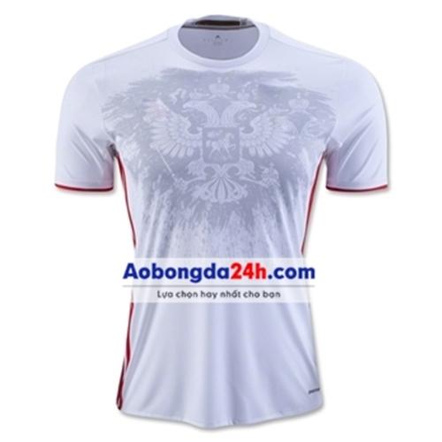 Áo bóng đá không Logo Nga trắng sân khách
