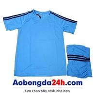 Áo đá banh Traning không logo xanh nhạt (mẫu 57)
