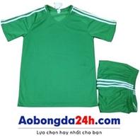 Áo Traning không logo xanh lá cây (mẫu 52)
