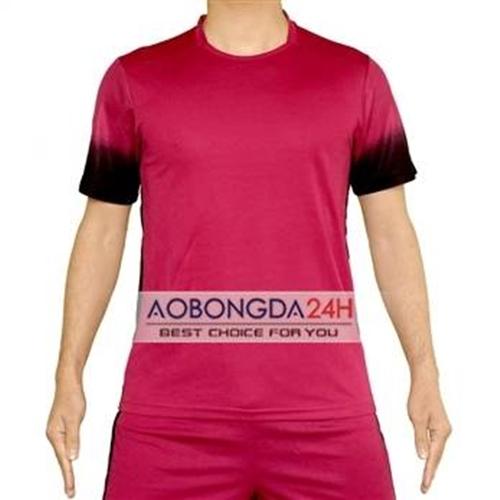 Áo đá banh không logo Traning đỏ (mẫu 44)