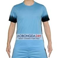 Áo đá bóng không logo Traning xanh (mẫu 46)