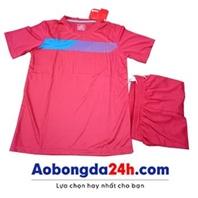 Áo đá bóng không logo Traning hồng (mẫu 59)