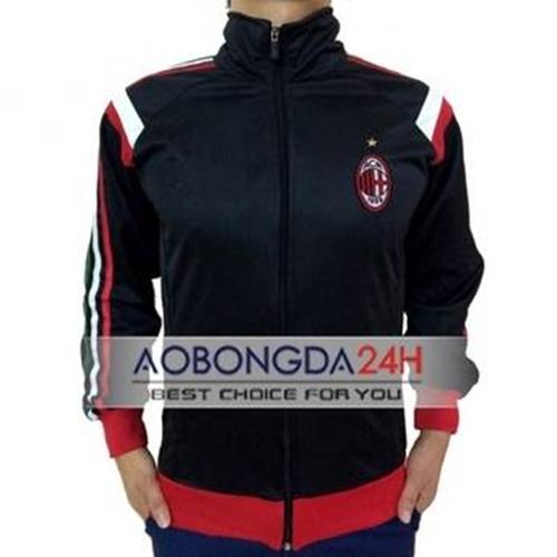Áo Khoác thể thao AC Milan 2014 - 2015 đen (Mẫu 01)