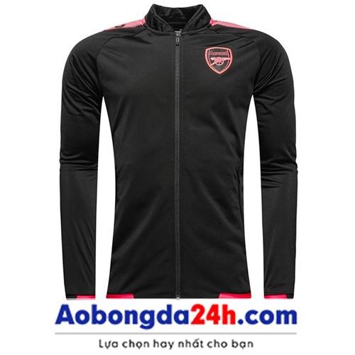 Áo khoác bóng đá Arsenal 2018 đen (Mẫu 04)