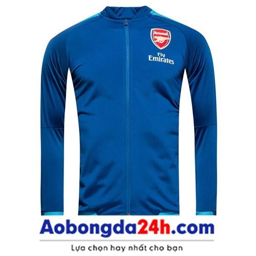 Áo khoác thể thao Arsenal 2018 xanh (Mẫu 02)
