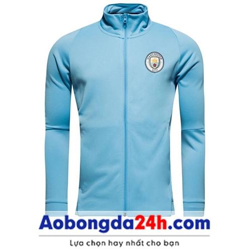 Áo khoác thể thao Man City 2018 xanh (Mẫu 01)