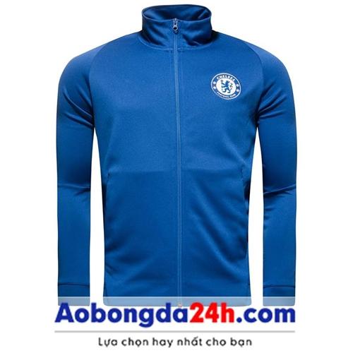 Áo khoác bóng đá Chelsea 2018 xanh (Mẫu 03)