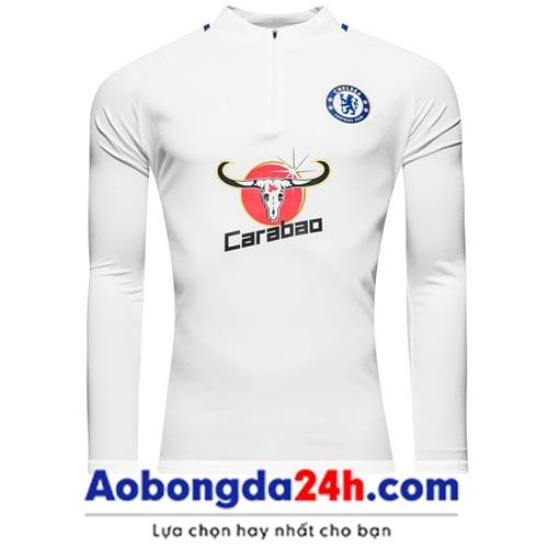Áo khoác đá bóng Chelsea 2018 trắng (Mẫu 02)