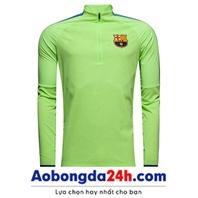 Áo khoác đá bóng Barca 2018 xanh nõn chuối (Mẫu 01)