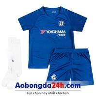 Quần áo thể thao trẻ em Chelsea trẻ em 2018 sân nhà