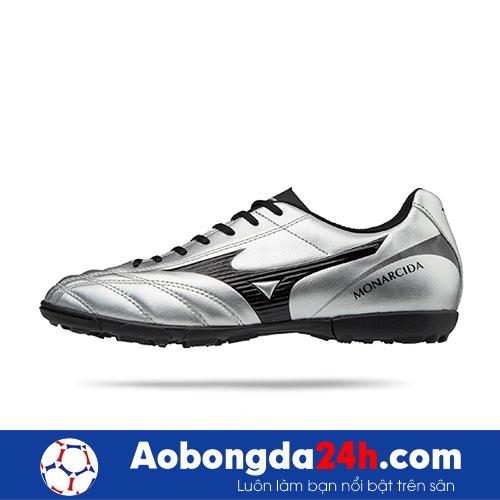 Giầy đá bóng chính hãng Mizuno Monarcida 2 FS Bạc Đen