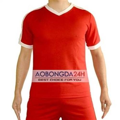 Áo bóng đá Traning không logo màu đỏ (mẫu 25)