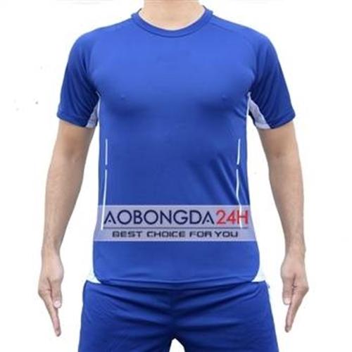 Áo bóng đá không logo Trainning xanh da trời (mẫu 22)